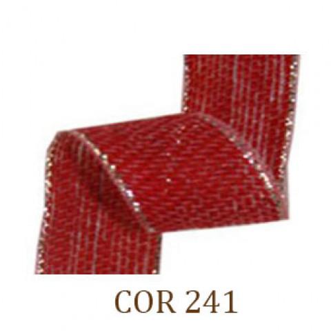Fita de Juta - Vermelho / Prata (3260-241)