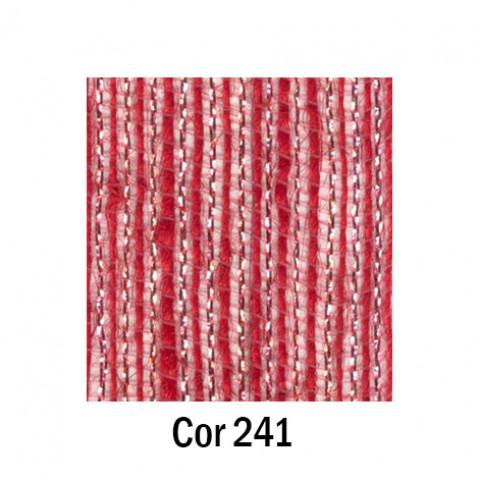 Fita de Juta - Vermelho / Prata (7538-241)