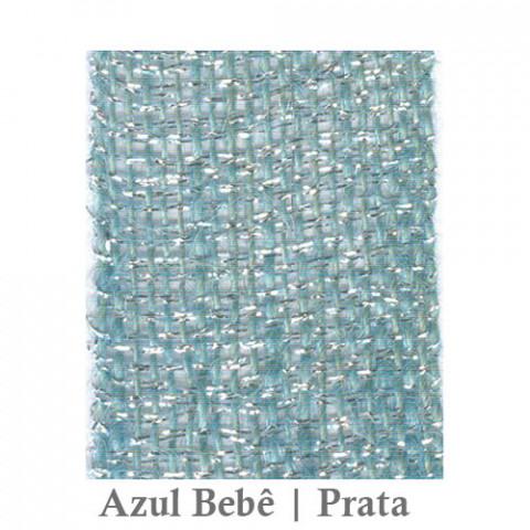 Fita Juta 1210 - Azul Bebê | Prata