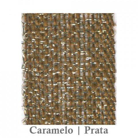 Fita Juta 1210 - Caramelo | Prata