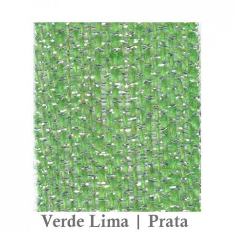 Fita Juta 1210 - Verde Lima | Prata
