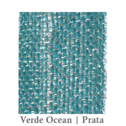 Fita Juta 1210 - Verde Ocean | Prata