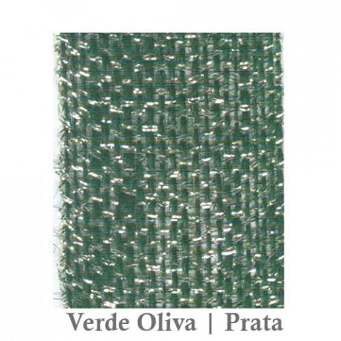 Fita Juta 1210 - Verde Oliva | Prata