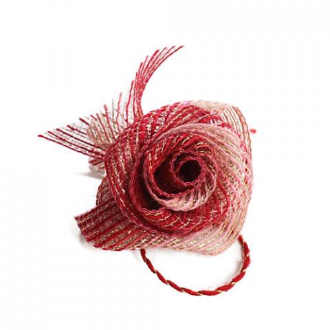 Flor de Fita M - Vermelho | Salmão