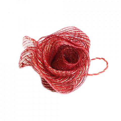 Flor de Fita M -Vermelho