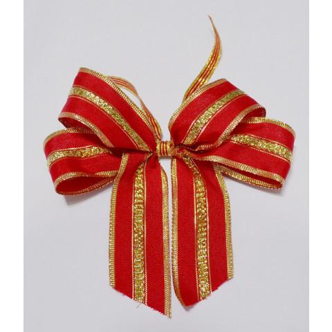 Laço Duplo M - Vermelho | Dourado