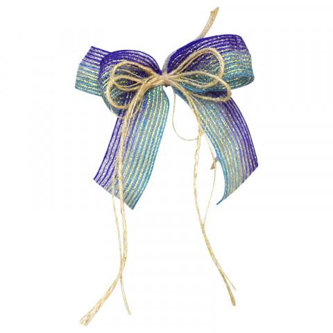 Laço M - Degradee Azul Royal | Azul Bebê [7638-380]