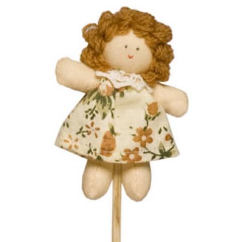 Pick - Boneca Juju Vestido Florido Bege