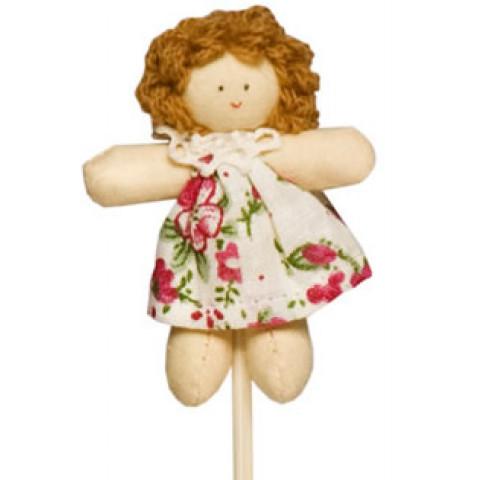 Pick - Boneca Juju Vestido Florido Rosa