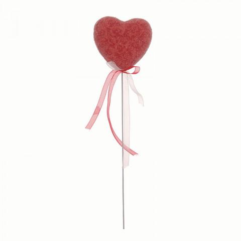 Pick Coração Decorado Arabescos - Vermelho (6 unidades