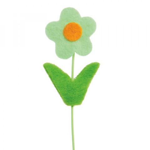 Pick Flor Felt - Verde Claro (16 unidades)