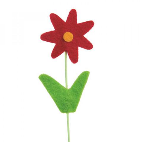 Pick Flor Felt - Vermelha (16 unidades)