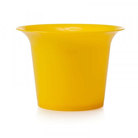 Pote de Cristal G - Amarelo