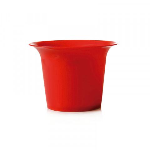 Pote de Cristal G - Vermelho