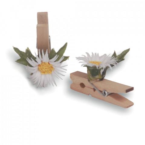 Pregador Floral Margarida - Cor Branca