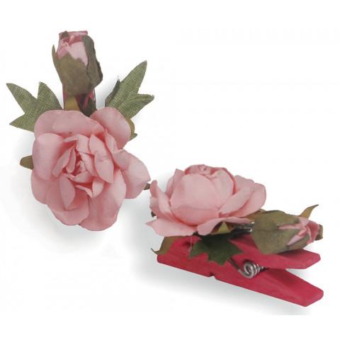 Pregador Floral Rosa - Cor Rosa