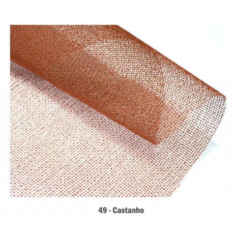 Tela Aberta de Algodão - Castanho (65 x 65 cm)