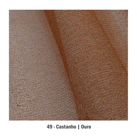 Tela Aberta de Algodão - Castanho | Ouro (65x50cm)