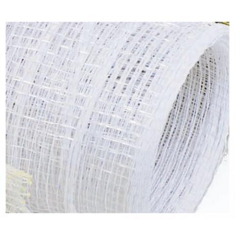 Tela Decorativa - Branco com Prata