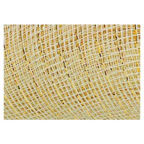 Tela Decorativa - Marfim com fio Dourado