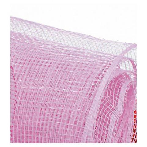 Tela Decorativa - Rosa Claro com fio Prata