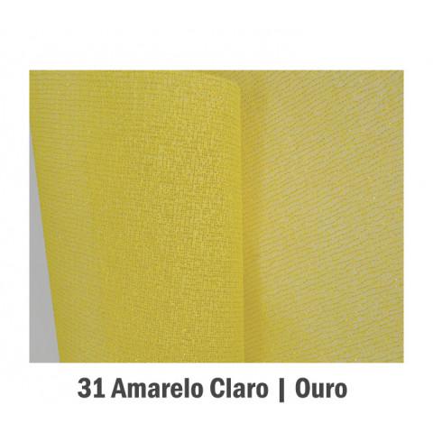 Tela Fechada de Algodão - Amarelo Claro com Ouro (65x65cm)