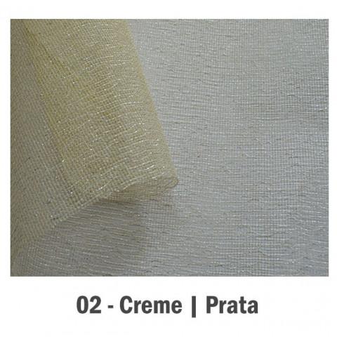 Tela Parquet - Creme | Prata [65 cm x 1 m]