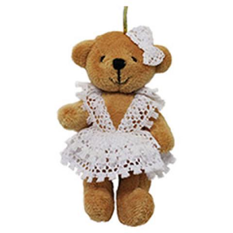 Ursinha com Vestido de Renda (10 cm)