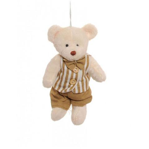 Ursinho com Colete de Listras (15 cm)