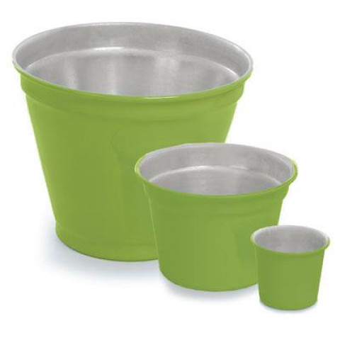 Vaso de Alumínio - Crisântemo Verde