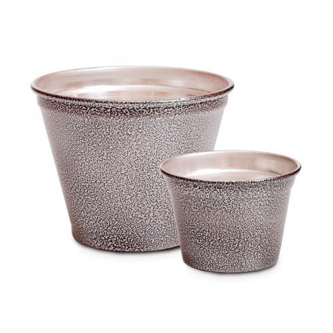 Vaso de Alumínio - Preto Martelado (G)