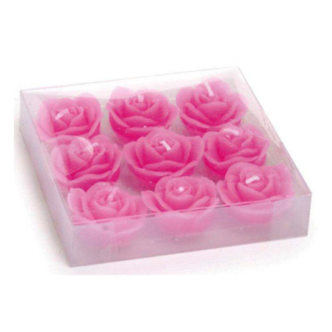 Vela Decorativa - Rosas Rosa