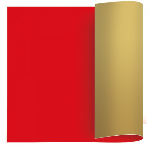 Papel Kraft - Vermelho   Ouro