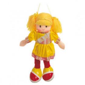 Boneca Anie Vestido Liso Amarelo