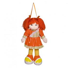 Boneca Anie Vestido Liso Laranja