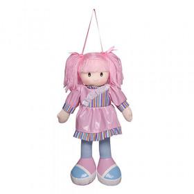 Boneca Anie Vestido Liso Rosa