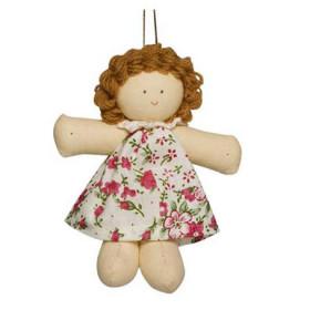 Boneca Juju Vestido Florido Rosa