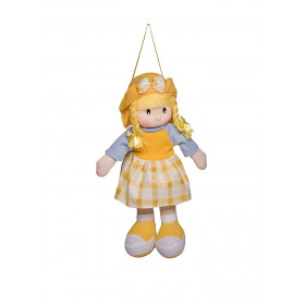 Boneca Paty Vestido Xadrez Amarelo