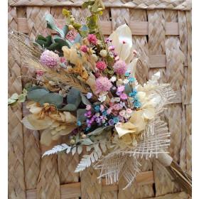 Buque de Noiva com flores desidratadas
