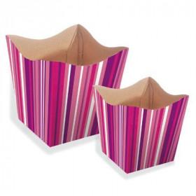 Cachepot P - Listras Pink