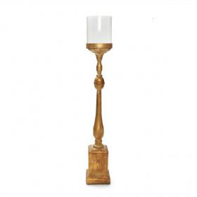 Castiçal Ouro com Vidro M