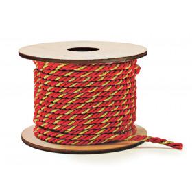 Cordão Vermelho com Ouro (3 fios)