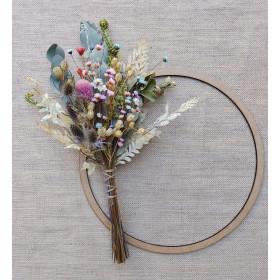 Mini buquê com flores Desidratadas para Decoração de Bolos