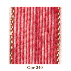 Fita de Juta - Vermelho / Ouro (3210-240)