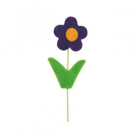 Pick Flor Felt - Roxa  (16 unidades)