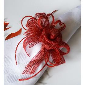 Porta-guardanapo - Flor de Fita e Coração