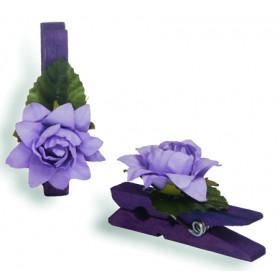 Pregador Floral Rosa - Cor Lilás