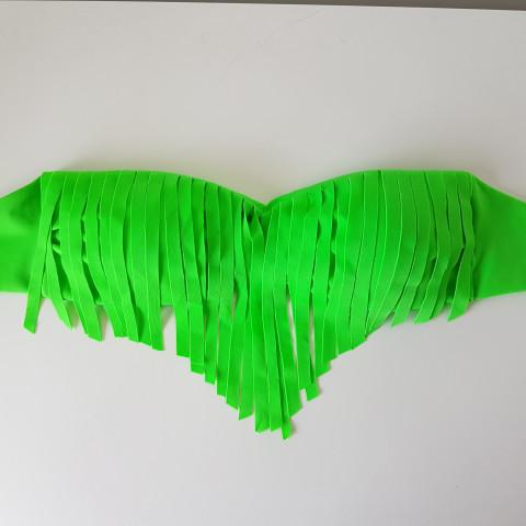 Sutiã TQC COM BOJO e franja Verde Neon M