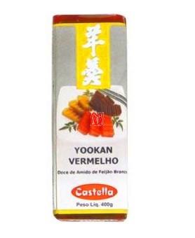 DOCE JAPONÊS YOOKAN VERMELHO CASTELLA 400g