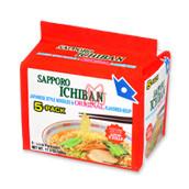 MACARRAO LAMEN JAPONÊS SABOR SHOYU- Sapporo Ichiban  (5 pacotes)